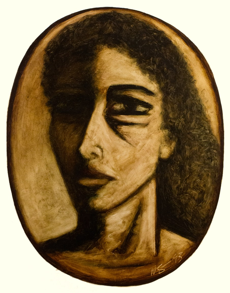 Face No. 1.14, oil on paper, 30 X 22, 1993