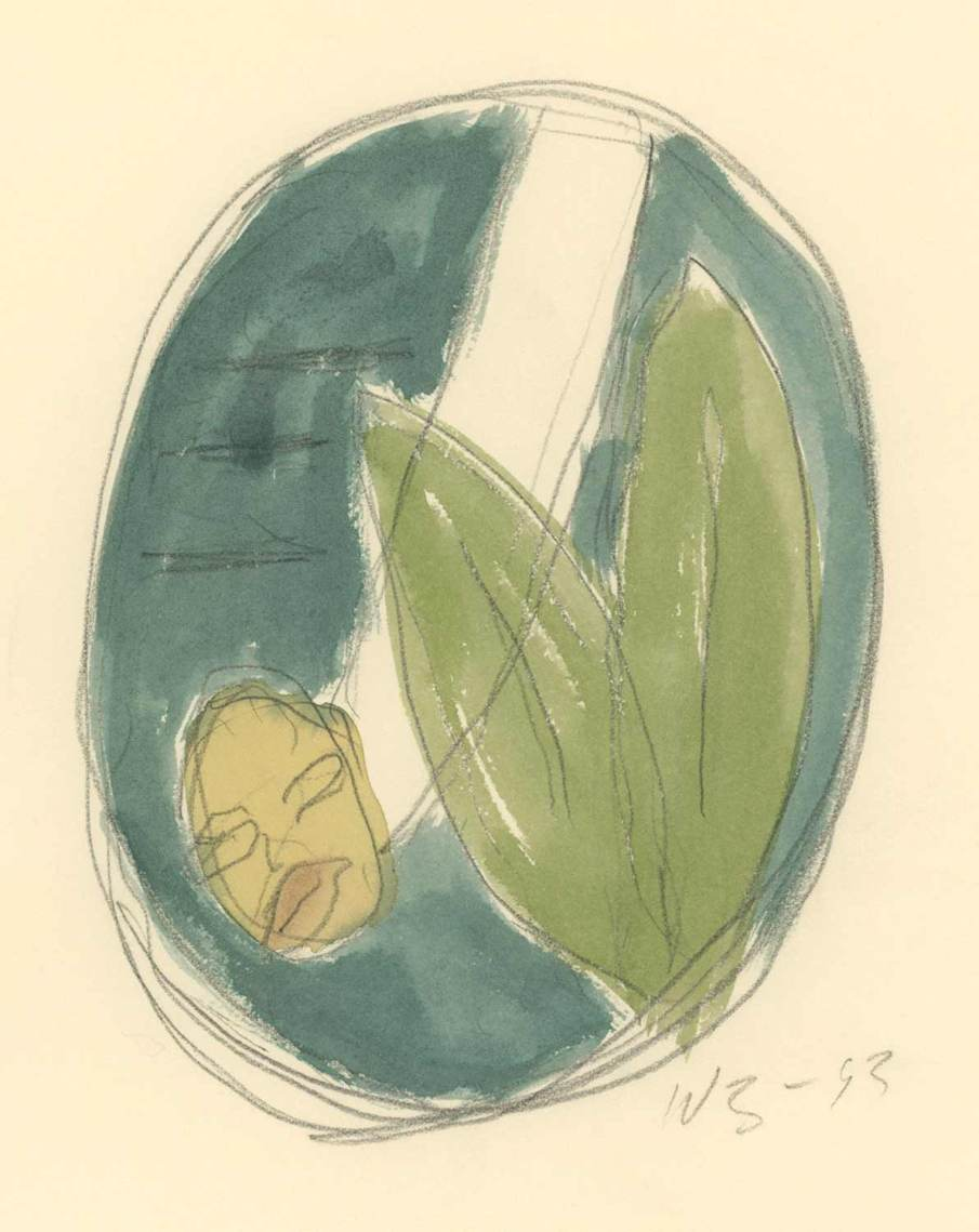 The Garden No. 15, watercolor on paper, 13 X 10, 1993