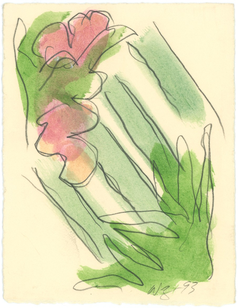 The Garden No. 22, mixed media on paper, 7 X 5, 1993