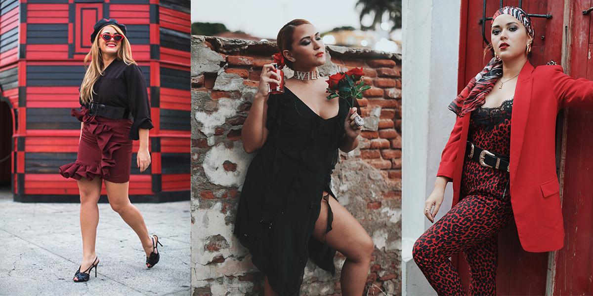 Dile que sí al glamour del rojo y negro