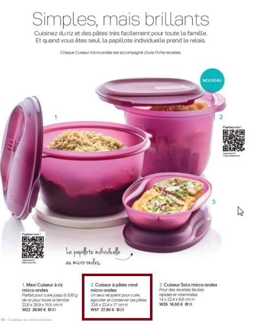cuiseur pates rond tupperware france
