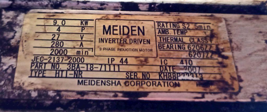 meiden inverter driven jec-2137-2000 3ba-18-71111