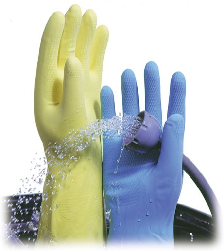Gloves are essential for chemical resistance!
