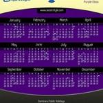 Calendar Purple Class 2014