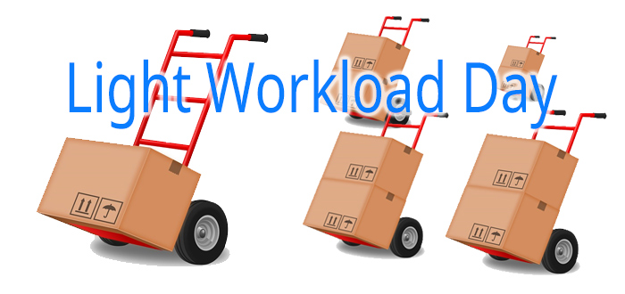 Light workload days boost productivity
