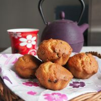 Muffins aux pépites de chocolat sans lactose