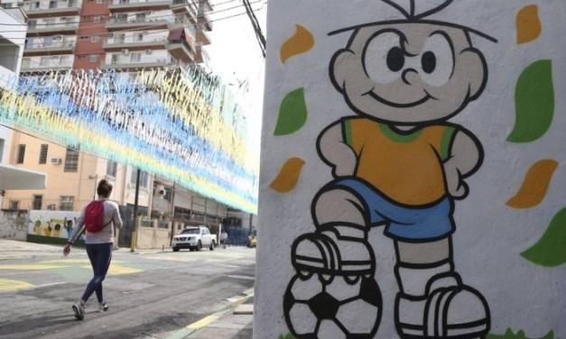 Pinturas de rua para a Copa da Rússia são raras na Grande Tijuca