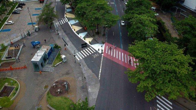 Projeto piloto testa mais espaço em via pública na Tijuca