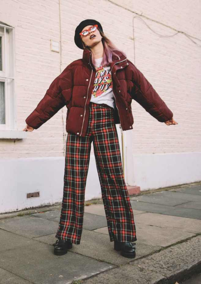 boohoo-checked-wide-leg-pants