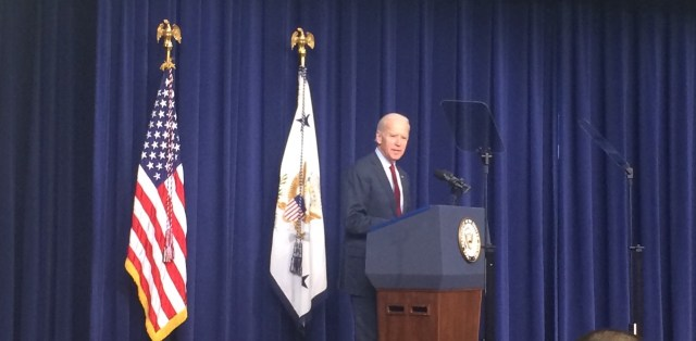 VP Biden Addressing Upskill Event