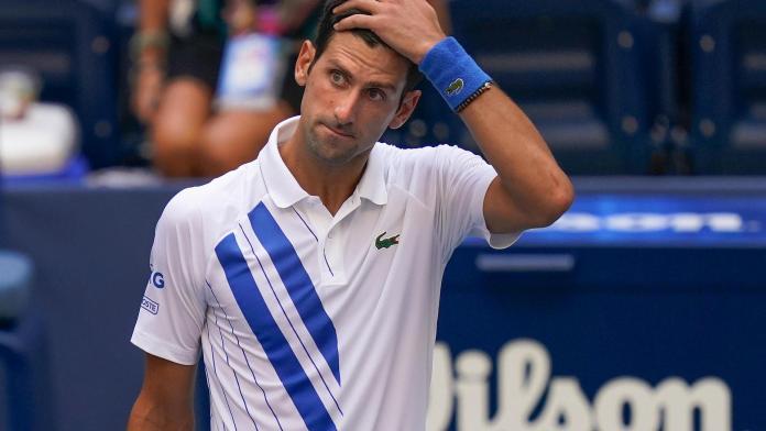 djokovic sad disqualification US Open