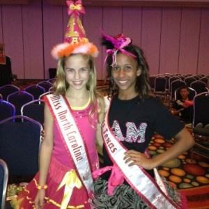 Hannah Gold NC Pre-Teen with East Texas Pre-Teen BFF Jaden Washington