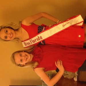 Patriotic Amber Flynn with my sister queen