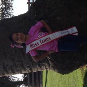 Miss Texas Princess Kristel on her NAM apparel!