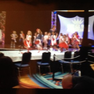 Miss Texas Princess Kristel in her patriotic rehearsal!