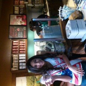 Starbucks special drink just for NAM girls before Patriotic Rehearsal Alexis Nationals 2014
