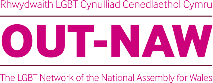 logo for OUT NAW the Assembly's LGBT workplace network