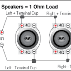 8 Ohm Speaker Wiring Diagrams Air Compressor Pressure Switch Diagram Subwoofer For Car Audio Bass Speakersnational Auto Two 4 Dual Voice Coil Subs Wired In Parallel 1 Load
