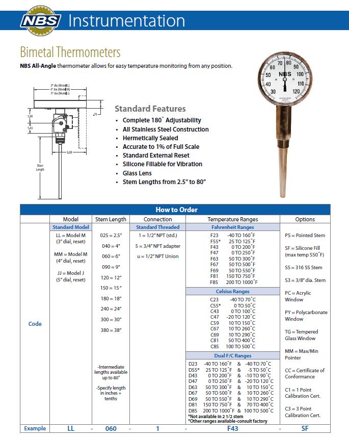 Sensor Bimetal : sensor, bimetal, Bimetal, Thermometers, National, Basic, Sensor