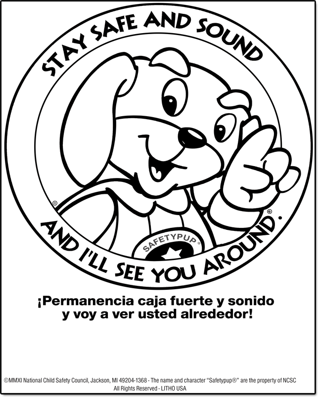 900W: Meet Safetypup® Color / Activity Sheet