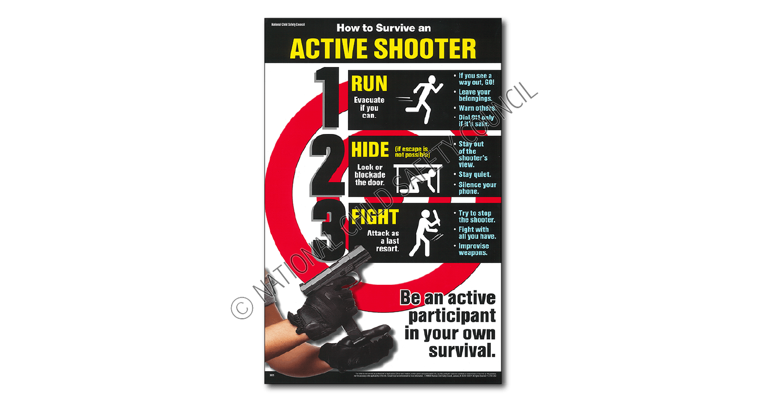 901 active shooter poster