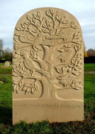 Catriona Banwell headstone carved by Teucer Wilson