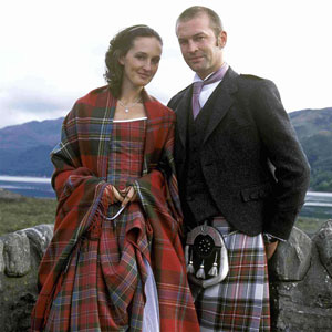National dress of Scotland Mens and ladies kilt