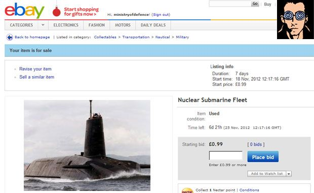 Trident Nuclear Submarine Fleet For Sale | National Collective