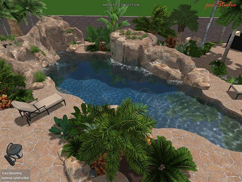 landscaping contractor servicing