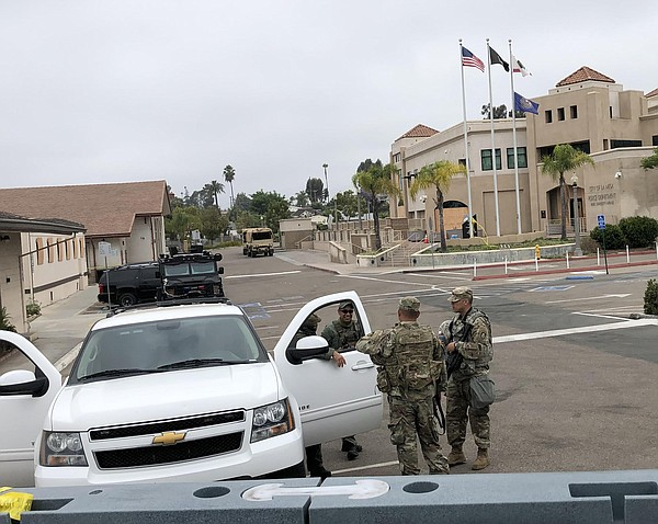 Members of the California National Guard are among the un...