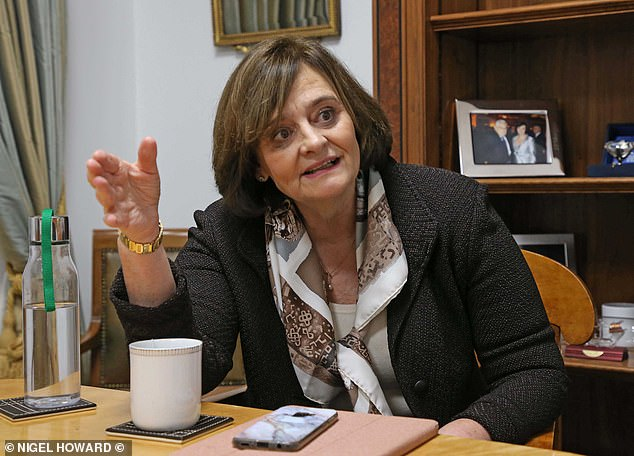 Cherie Blair QC, pictured, received a tip off from her client, Israeli security firm NSO Group that their military-grade software was being used to hack phones belonging to Baroness Shackleton and Princess Haya
