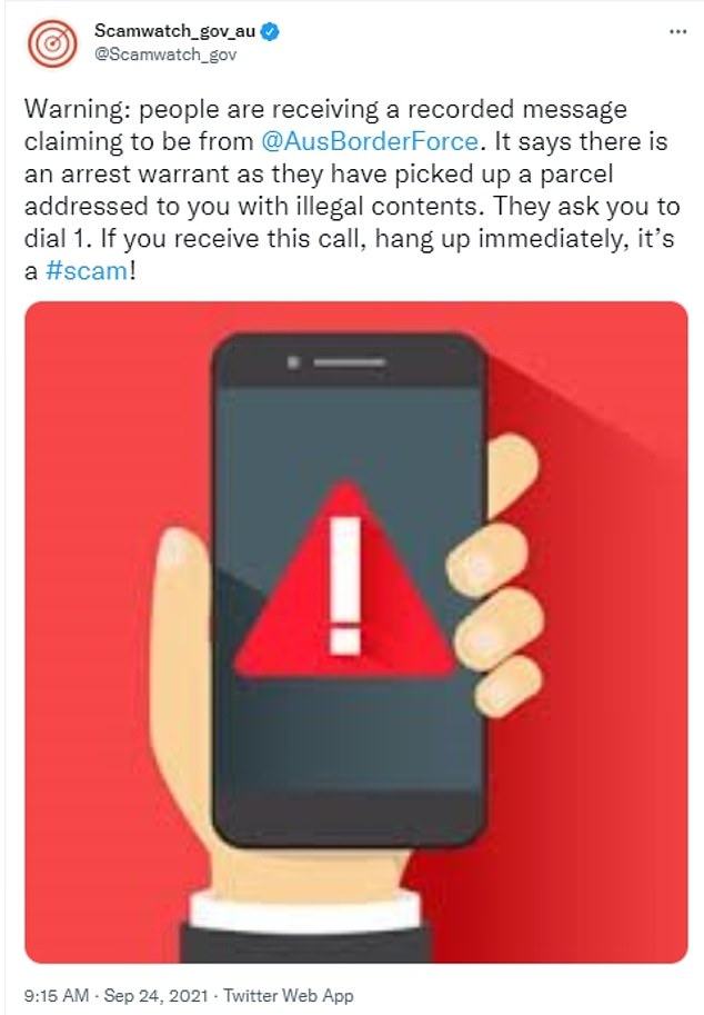 Scamwatch, run by the ACCC, has issued a warning to Australians about a new scam where individuals over the phone claim to be an Australian Border Force officer