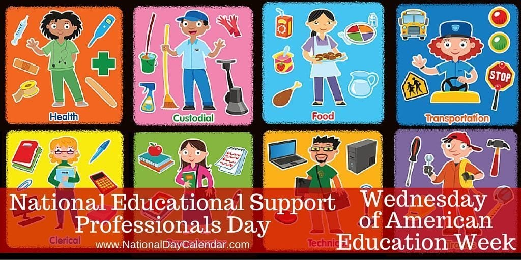 National Educational Support Professionals Day - Wednesday of American Education Week