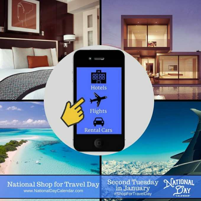 National Shop for Travel Day - Second Tuesday in January