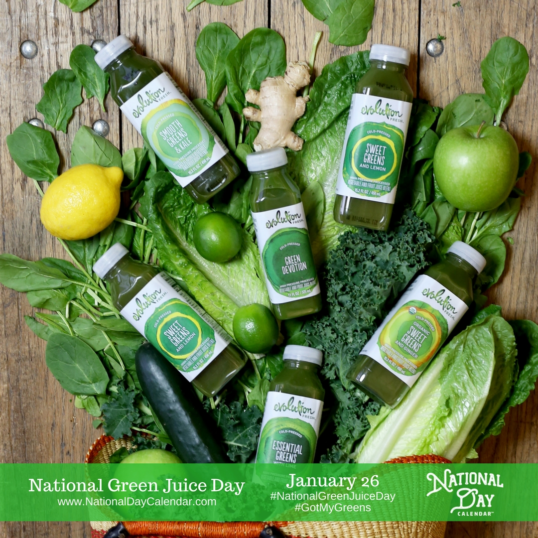 Got My Greens is asking whether you have your juice drink of choice ready to go each day - National Green Juice Day empowers your wellness resolutions...