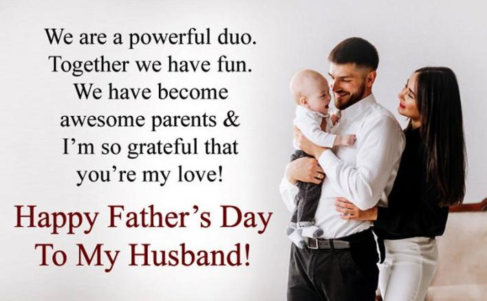 Fathers day wishes to my Husbands