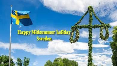 Happy Midsummer Sweden holiday