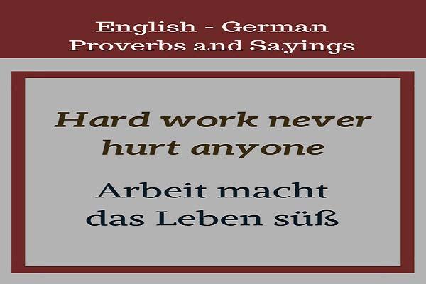 German Language Day proverb image