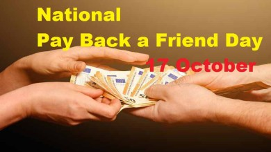 National Pay Back a Friend Day