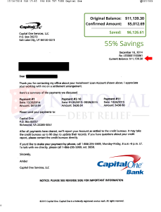Capital One Auto Payoff : capital, payoff, Settlement, Letters