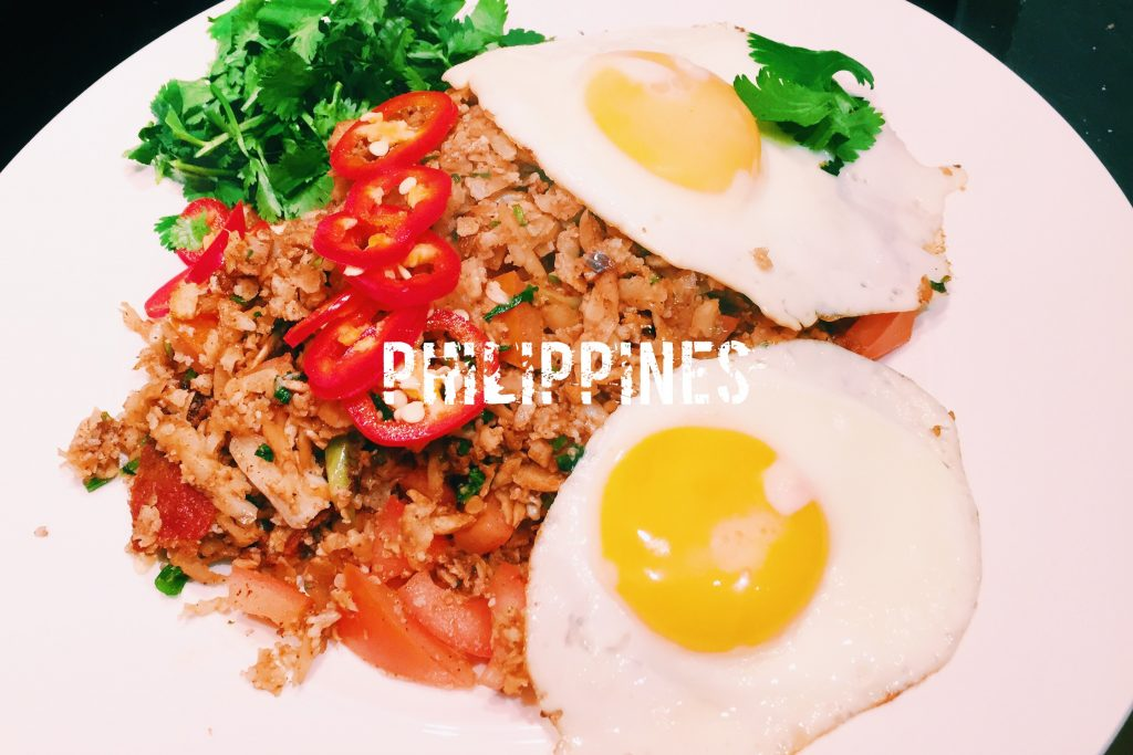 What is the filipino national dish garlic fried cauliflower rice with egg