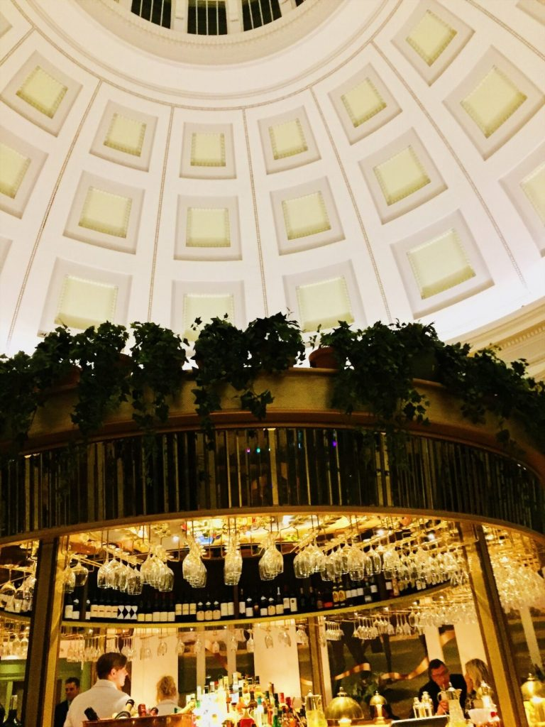 The rotunda in Monpellier over the cocktail bar at The Ivy Cheltenham