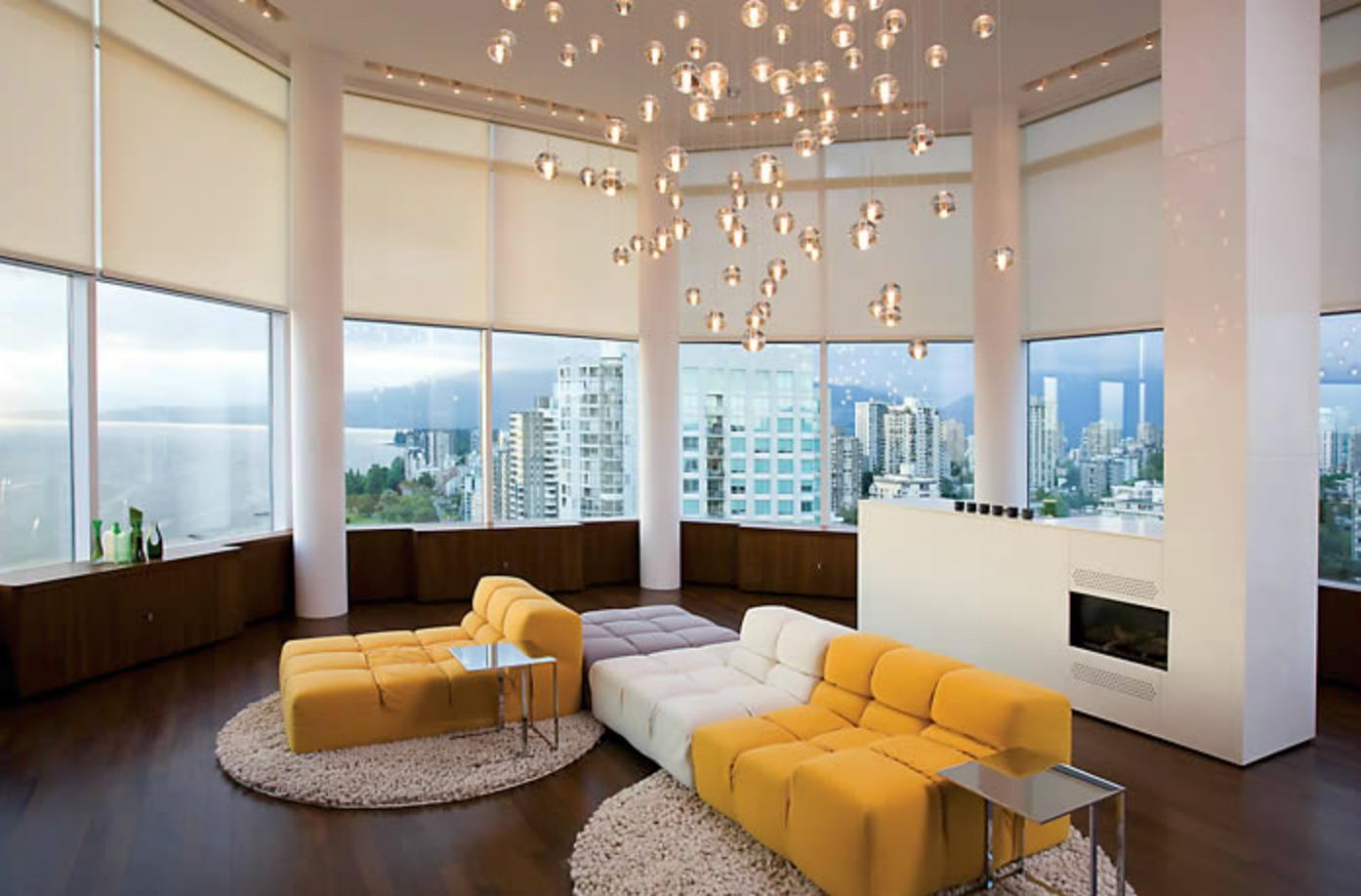 Living Room Drapery Shading National Drapery Toronto