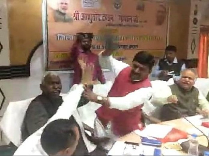BJP MP beaten own party MLA
