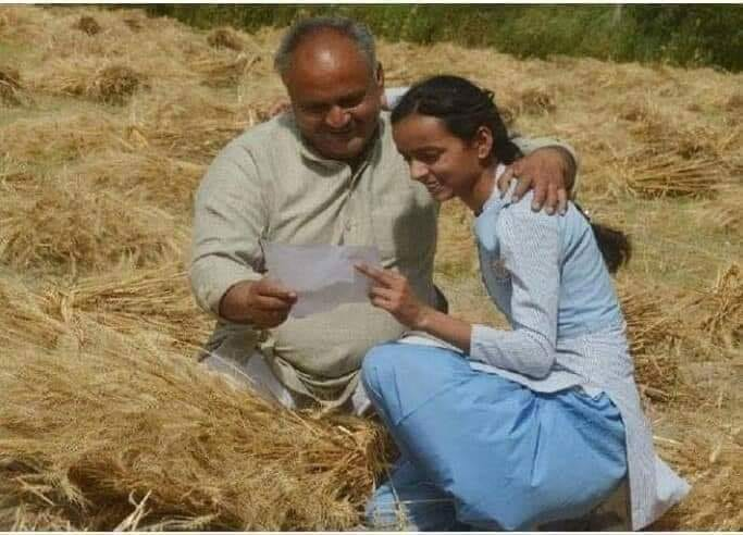 tanu tomar with her father harendra tomar