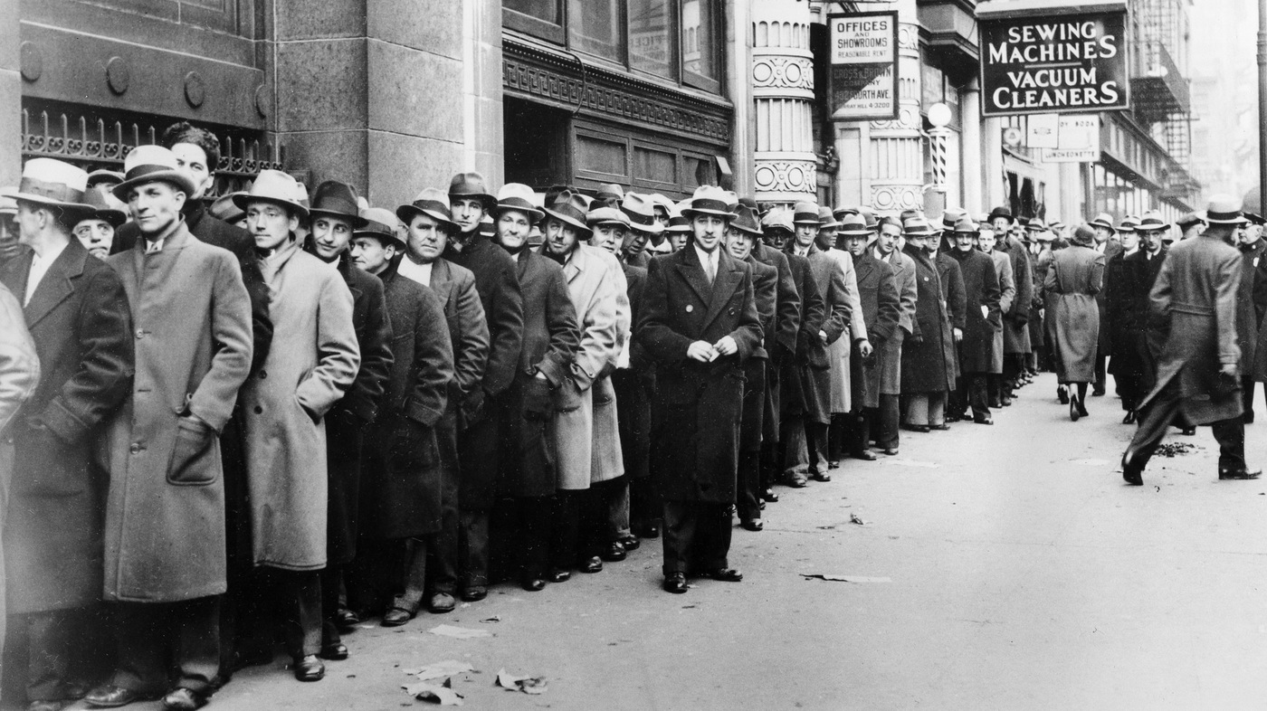 unemployed people during great depression
