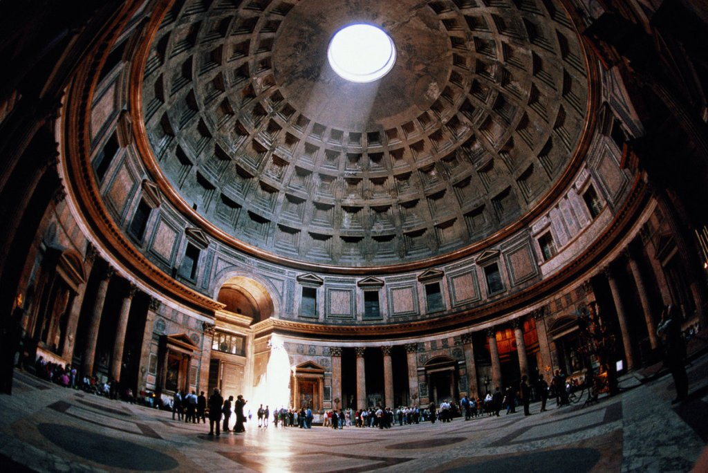 Roman Pantheon, made of concrete