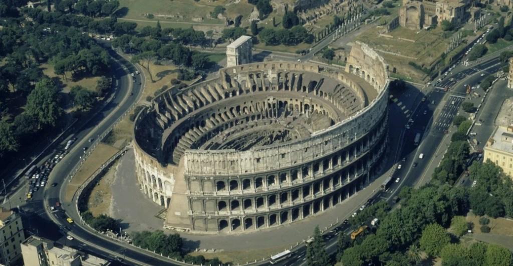 Roman Colosseum arches