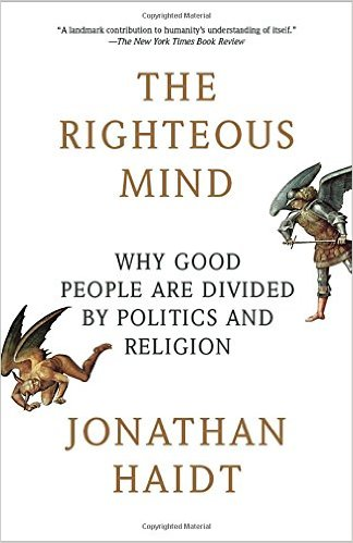 the righteous mind by jonathan haidt explains how political leanings are in our DNA