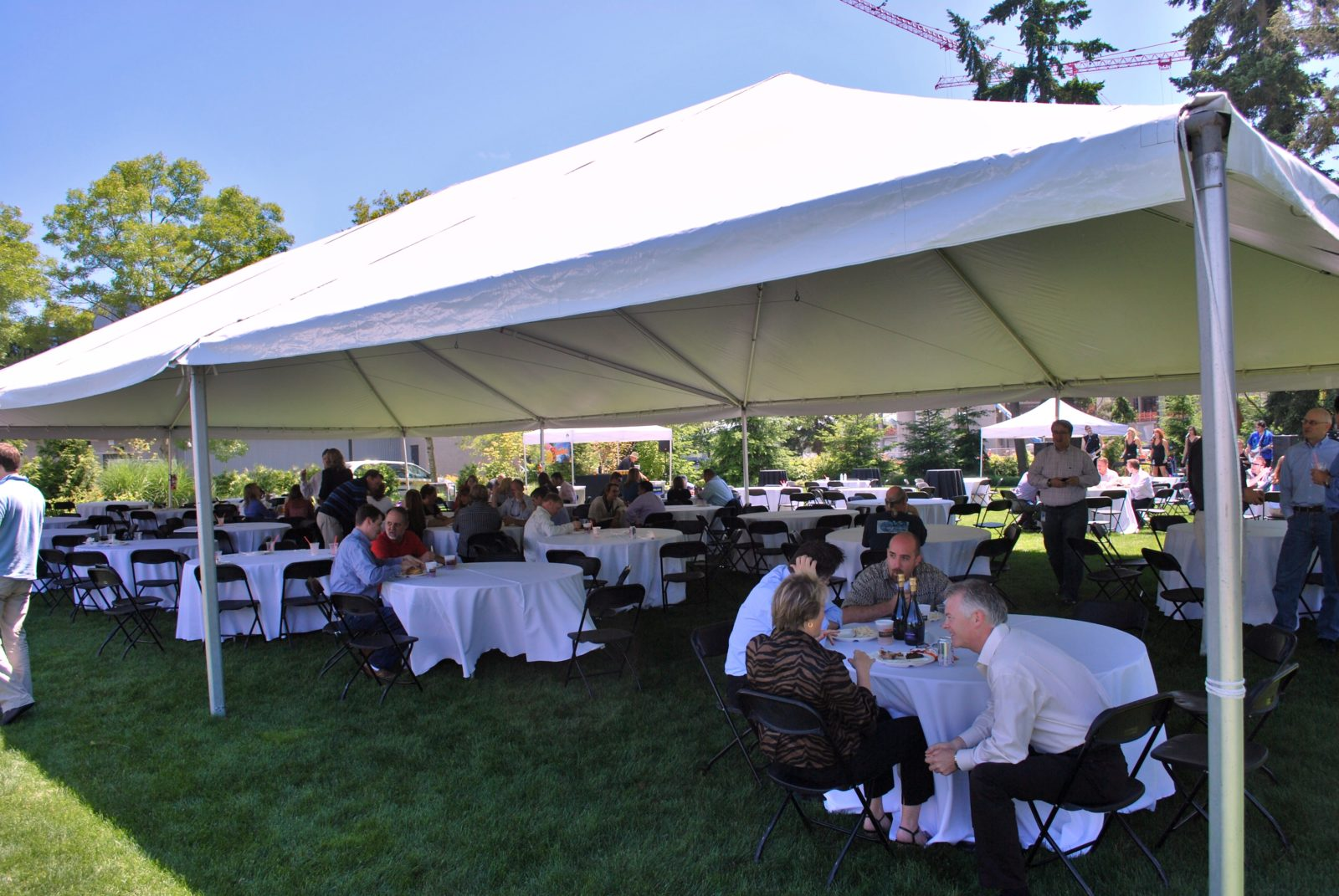 Tent Table And Chair Rentals Large Tent Rental With Optional Heating And Interior Decor